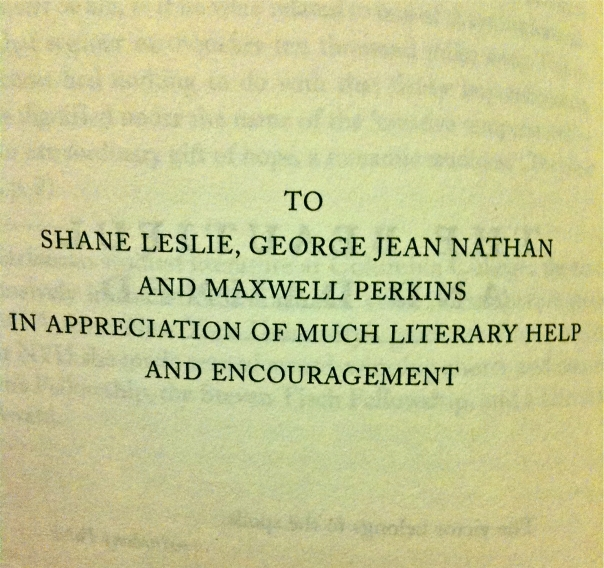 To Shane, Leslie, George, Jean, Nathan and Maxwell Perkins in appreciation.