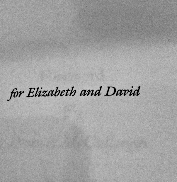 Sylvia Plath dedicated The Bell Jar for Elizabeth and David