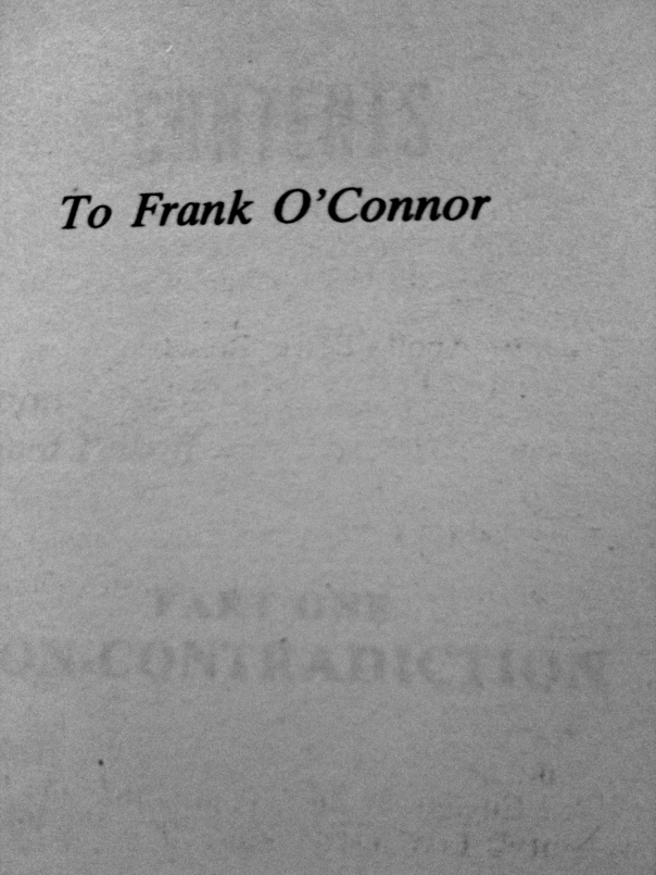 Ayn Rand dedicated Atlas Shrugged and Fountainhead to Frank O'Connor