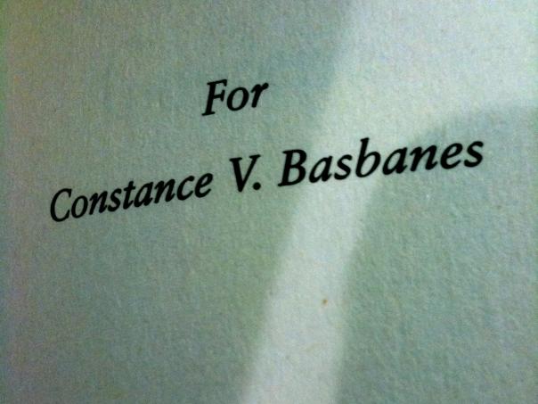 For Constance V Basbanes