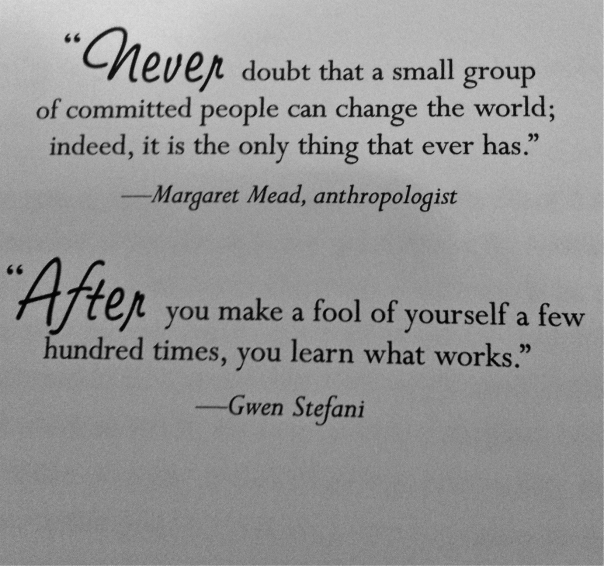 After you make a fool of yourself a few hundred times, you learn what works - Gwen Stefani